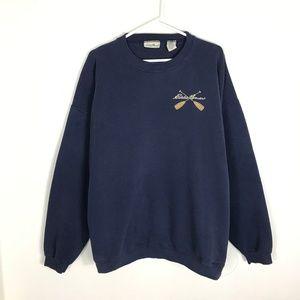 Mens XL Eddie Bauer Kayak Oars Crewneck Sweater
